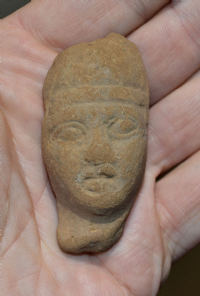 A pleasant Ptolemaic period Ancient Egyptian terracotta bust from a votive figurine. SOLD